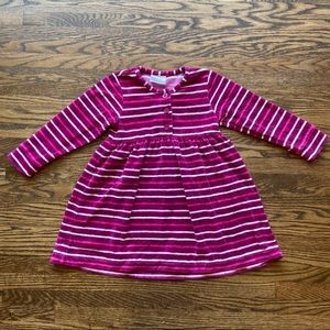 Hanna Andersson Velour Striped Dress